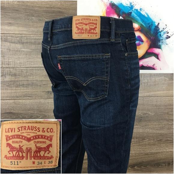 fc5fce6b Levi's Jeans   Levis 511 Slim Fit Mens Dark Wash 34x38   Poshmark